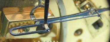 Close up of the escapement